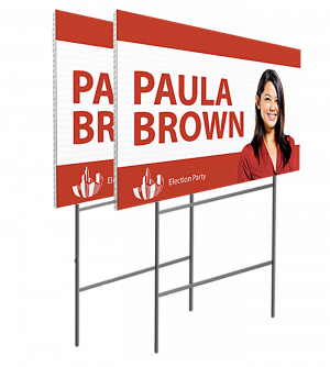 lawn-sign with H-stand